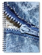 Zipper In Blue Spiral Notebook