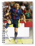 Zlatan Ibrahimovic In Action  Spiral Notebook