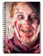 Zombie At Dentist Holding Toothbrush. Tooth Decay Spiral Notebook