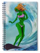 Zombie Surf Goddess Spiral Notebook