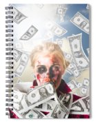 Zombie With Crazy Money. Filthy Rich Millionaire Spiral Notebook