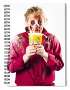 Zombie Woman With Popcorn Spiral Notebook