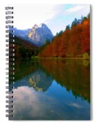 Zugspitz And Riessersee Garmish Germany Spiral Notebook