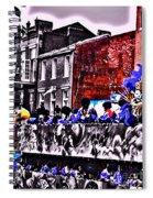 Zulu Krewe In Red And Blue Spiral Notebook
