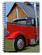 Zz Chrome Peterbilt Spiral Notebook