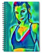 03_young Girl Portrait Spiral Notebook