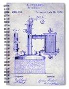 1878 Beer Boiler Patent Blueprint Spiral Notebook
