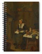 A Woman Asleep By A Fire  Spiral Notebook