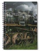 Abandoned Steam Locomotive  Spiral Notebook