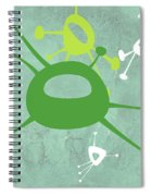 Abstract Splash Theme Iv Spiral Notebook