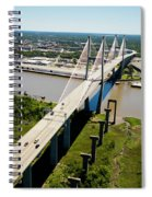 Aerial View Of Talmadge Bridge Spiral Notebook