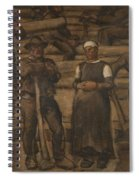 Albin Egger-lienz 1868 - 1926 The Ages Of Life Spiral Notebook