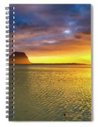 Amazing View Of Le Morne Brabant At Sunset.mauritius. Panorama Spiral Notebook