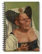 An Old Woman  The Ugly Duchess   Spiral Notebook