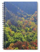 Autumn Color On Newfound Gap Road In Smoky Mountains National Park Spiral Notebook