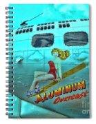 B-17 Aluminum Overcast Pin-up Spiral Notebook