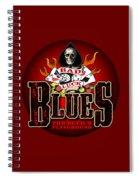 Bad Luck Blues Spiral Notebook