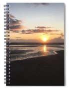 Beach Sunset, Blackpool, Uk 09/2017 Spiral Notebook