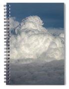 Beautiful Cloudscape High Up In The Sky. Spiral Notebook