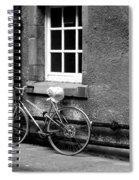 bicycle in Edinburgh close Spiral Notebook