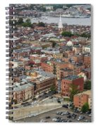 Boston Government Center, North End And Harbor Spiral Notebook