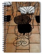 Chairs And Shadows Spiral Notebook