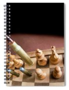 Chess Board And Bullets. Spiral Notebook