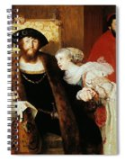 Christian II Signing The Death Warrant Of Torben Oxe  Spiral Notebook