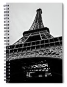 Close Up View Of The Eiffel Tower From Underneath  Spiral Notebook