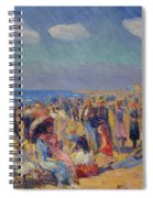 Crowd At The Seashore Spiral Notebook