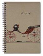 Design For Cabriolet Or Victoria, No. 3558  1879 Spiral Notebook