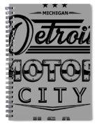 Detroit Motor City Spiral Notebook