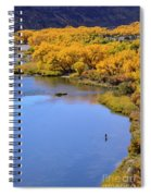 Distant Fisherman On The San Juan River In Fall Spiral Notebook