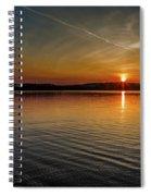 Dog Lake Sunset Spiral Notebook