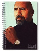 Dwayne Johnson Artwork Spiral Notebook