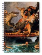 Fighting On A Bridge  Spiral Notebook