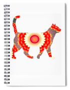 Fire Flower Cats Spiral Notebook