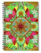 Flower Garden Mandala Spiral Notebook
