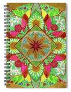 Flower Garden Mandala Spiral Notebook