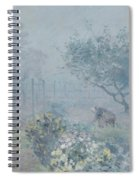 Foggy Morning, Voisins, 1874 Spiral Notebook