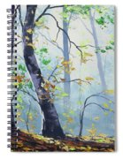 Forest Sunrays Spiral Notebook