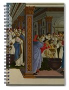 Four Scenes From The Early Life Of Saint Zenobius  Spiral Notebook