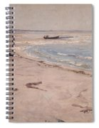 From The Beach At Sele  Spiral Notebook