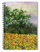 Golden Hillside Spiral Notebook