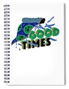 Good Old Times Pizza Fries Born In The 90s Husband Wife Spiral Notebook