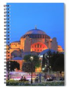 Hagia Sophia At Night Istanbul Turkey  Spiral Notebook