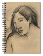 Heads Of Tahitian Women, Frontal And Profile Views Spiral Notebook