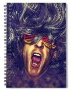 Heavy Metal Rock Star Spiral Notebook