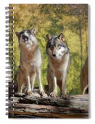 Howling Wolves Spiral Notebook
