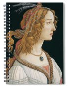 Portrait Of A Young Woman, Portrait Of Simonetta Vespucci As Nymph Spiral Notebook